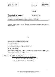 Bundesrat 359/1/06 Empfehlungen - Umwelt-online