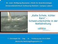 """""""Kalte Schale, kühler Kern"""" - Schwerunterkühlte in ... - DRF Luftrettung"""