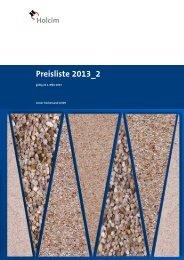 Preisliste 2013_2 - Holcim Süddeutschland