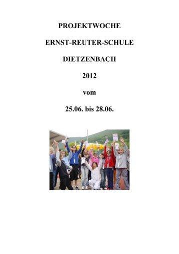 PROJEKTWOCHE ERNST-REUTER-SCHULE DIETZENBACH ...