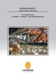 2.2 Managementempfehlungen für Legehennen in Boden ... - Gzho.de