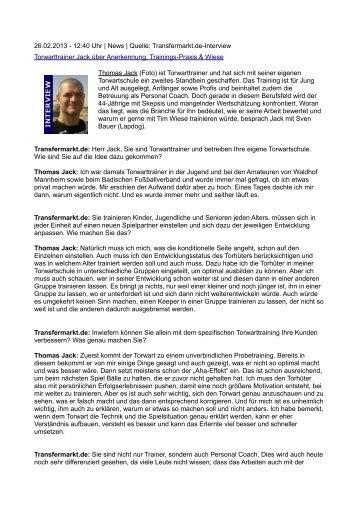 lesen - Torwartschule THOMAS JACK