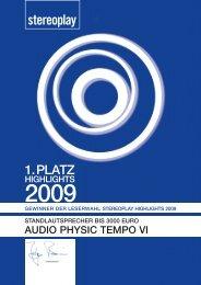1. PLATZ - Audio Physic