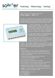 Data logger – MDL 4/1 Hydrology • Meteorology • Geology