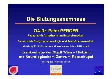 Gerinnungsanamnese - Österreichisches Rotes Kreuz