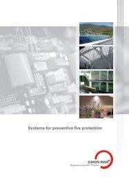Systems for preventive fire protection - AL.SE.RO
