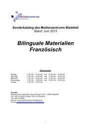 Französisch / Biologie - Medienzentrum Bielefeld