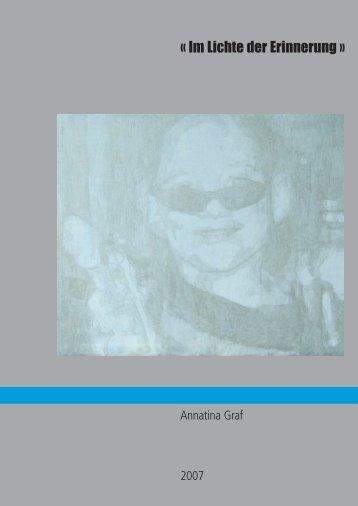 « Im Lichte der Erinnerung » - Annatina Graf