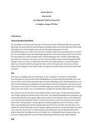 Zwischenbericht über die Zeit vom September 2010 bis ... - Daad