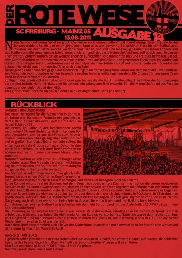 Der Rote Weise Nr. 14 - Wilde Jungs Freiburg