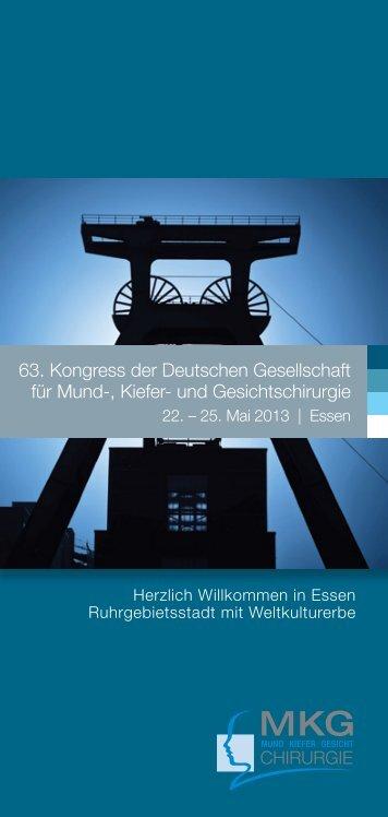 63. Kongress der Deutschen Gesellschaft für Mund-, Kiefer- und ...