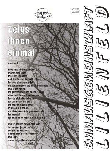 Rundbrief 1/2007 - Emmaus Lilienfeld