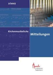 Inhalt IPD_2_2007 nn - Kirchenmusik im Erzbistum Paderborn