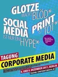 Broschüre - Tagung Corporate Media