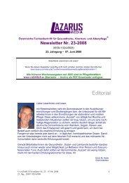 Newsletter Nr. 23-2008