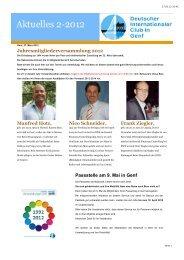 Ausgabe 02/2012 [pdf, 412 - Deutscher Internationaler Club in Genf ...