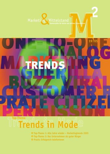 Trends in Mode - Marketing und Mittelstand