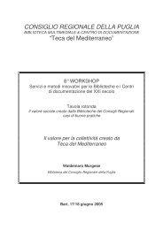 Il valore per la collettività creato da Teca del Mediterraneo