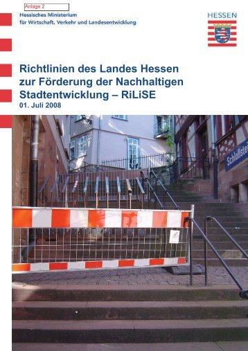 Richtlinien des Landes Hessen zur Förderung der Nachhaltigen ...
