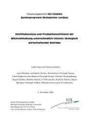 Stoffflußanalyse und Produktionseffizienz der Milchviehhaltung ...