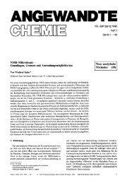 NMR-Mikroskopie - Grundlagen, Grenzen und ...
