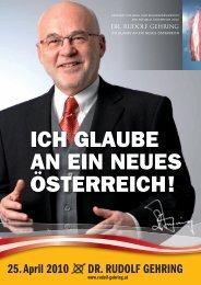 Dr. Rudolf Gehring- Ich glaube an ein neues Österreich