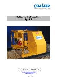 Schienenklopfmaschine Typ FR - Cemafer GmbH