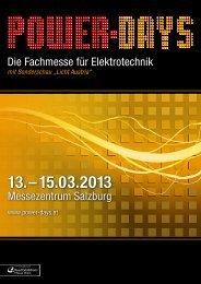Ausstellerfolder - Power-Days 2013