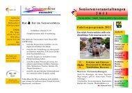 Seniorenveranstaltungen 2011 - Sprockhövel