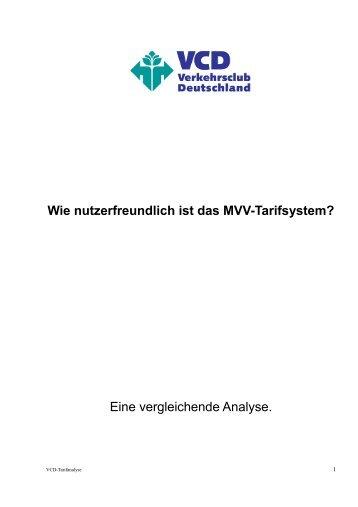 Die vollständige Analyse - Verkehrsclub Deutschland Kreisverband ...