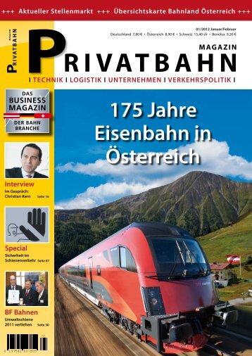 """Beitrag im Magazin """"Privatbahn"""" Ausgabe 01/2012 - Rennsteigbahn"""