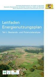 Leitfaden Energienutzungsplan - Coaching Kommunaler Klimaschutz