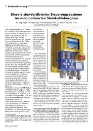 Einsatz standardisierter Steuerungssysteme im ... - RDB eV