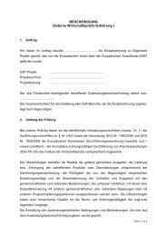 BESCHEINIGUNG (Externe Wirtschaftsprüfer ... - ECG GmbH Berlin
