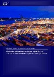 Gutachten – Volkswirtschaftliche Bewertung der ... - bei ISETEC-II