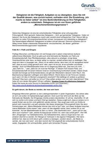 Delegieren - Grundl Leadership Akademie