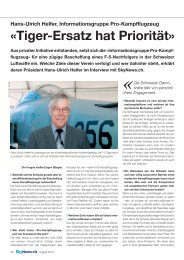 «Tiger-Ersatz hat Priorität» - PRO-Kampfflugzeuge