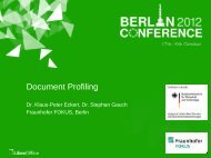 Document Profiling - ODF plugfest