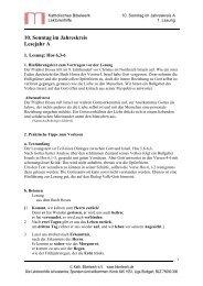 10. Sonntag im Jahreskreis Lesejahr A - Katholisches Bibelwerk