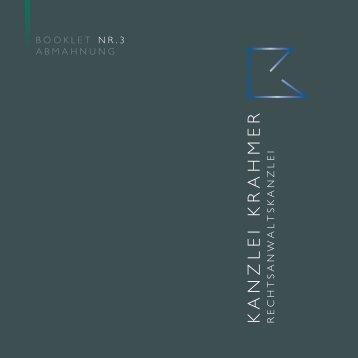 BOOKLET NR.3 Abmahnung - Kanzlei Krahmer