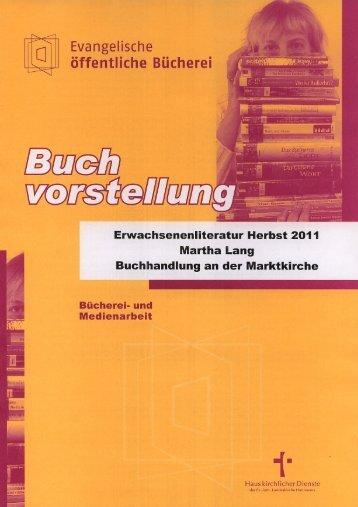 Buchvorstellung Erwachsenenliteratur Herbst 2011 - Haus ...