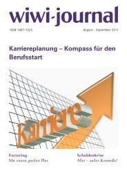Karriereplanung – Kompass für den Berufsstart - WiWi-Journal
