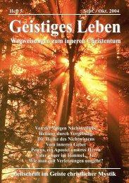 GL 5/2004 - der Lorber-Gesellschaft eV