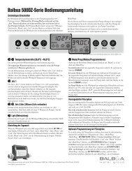 Bedienungsanleitung Bedienfeld Challenger I + II - Whirlpools24.com