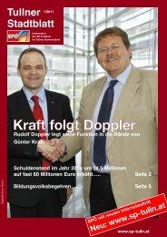Kraft folgt Doppler - SPÖ Stadtorganisation Tulln