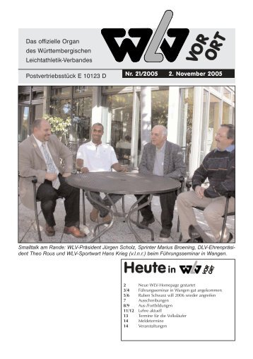 Ausgabe 21 - Württembergischer Leichtathletikverband