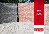 Flächen - Frühwald - wir geben Bauen Qualität