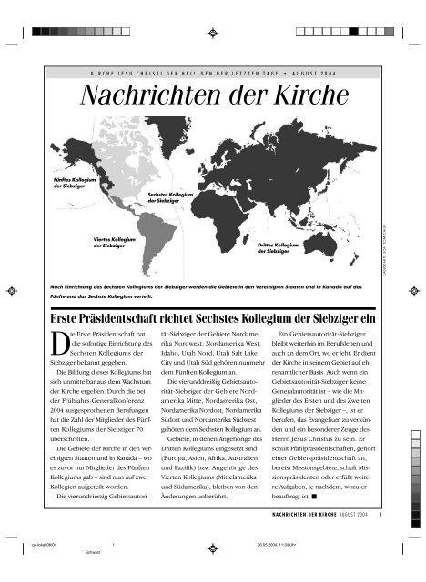 Nachrichten der Kirche - Kirche Jesu Christi der Heiligen der Letzten ...