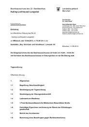 Bezirksausschuss des 22. Stadtbezirkes Landeshauptstadt ...