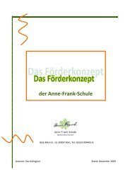 Förderkonzept - ANNE FRANK Schule